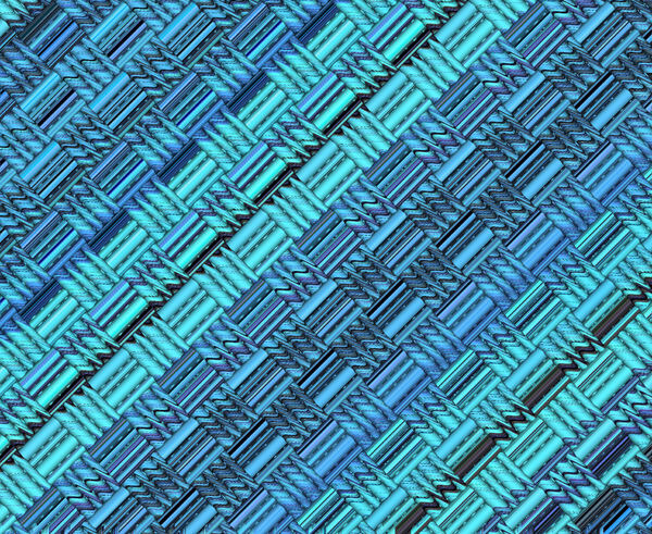 angled blue weave1: abstract angled blue weave background, texture, patterns and perspectives