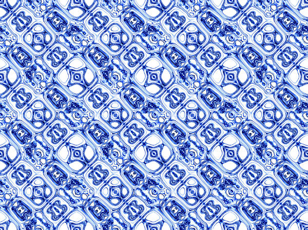 ethnic blue4C: abstract ethnic background, texture, patterns and perspectives