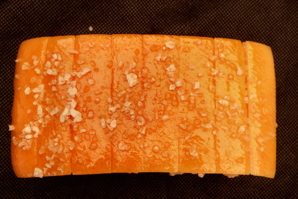 pork belly - speck12: scored-cut & salted slab of smoked pork belly