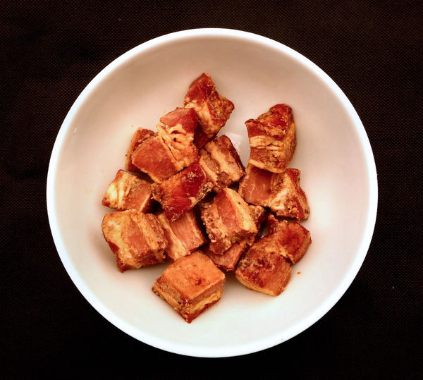 pork crackling7: fried pork belly and rind