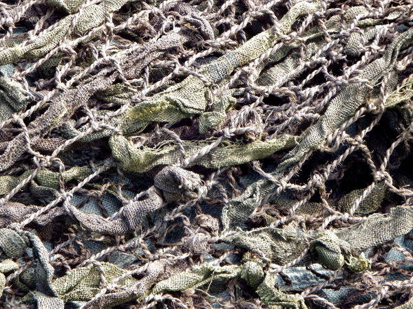 old camouflage netting1: old world war camouflage netting remnant