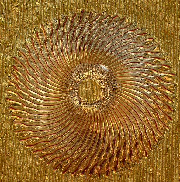 decorative textured door glass: abstract radiating textured golden art glass door window