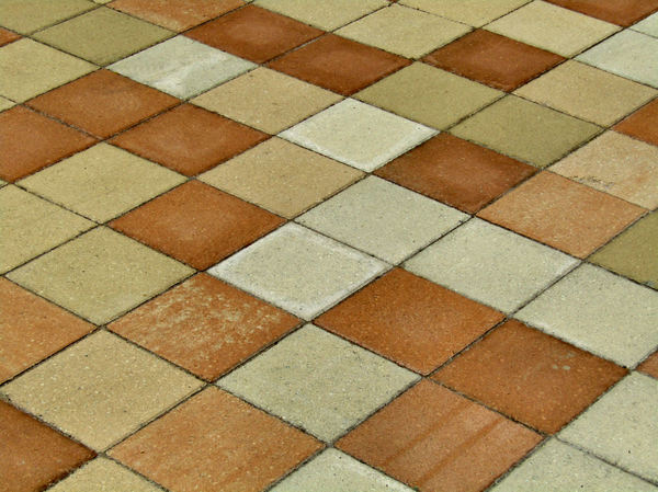 colored paving patterns3: patterned surface of pavement area