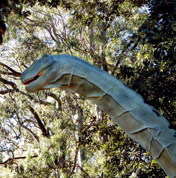 dinosaur jungle4: Public animated Zoorassic Park dinosaur display at Perth Zoo 2016.  NOT for commercial use.