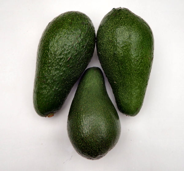 avocada varieties1: ripe Fuerte-variety avocados colours & textures