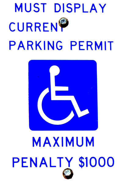 handicapped parking only1: expensive parking limitations