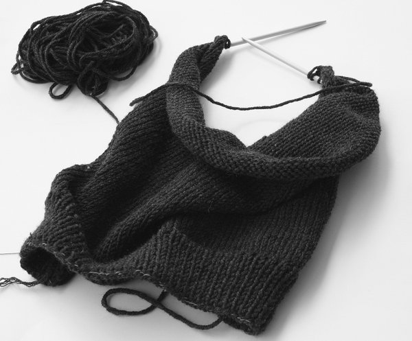 knitting: if it is cold and snowing outside, I like it to knit.