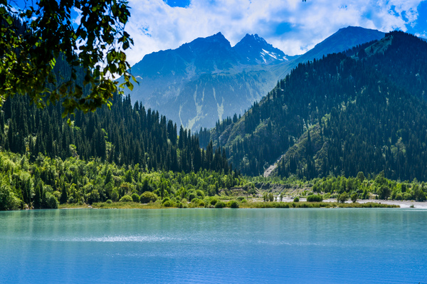 Mountain lake: Lake Issyk in Kazakhstan