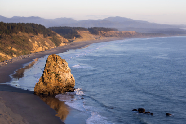 Port Orford, Oregon: View of Port Orford, Oregon, from Cape Blanco.