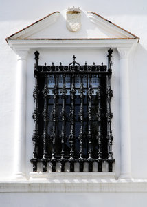 noble window: Window of a noble house in Andalucía, Spain