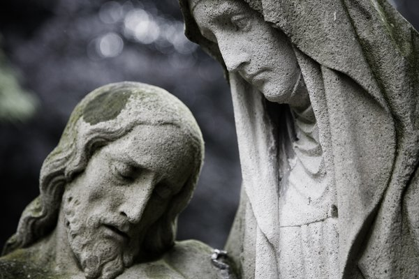 Jesus: Jesus photographed on the Maastricht Cemetery
