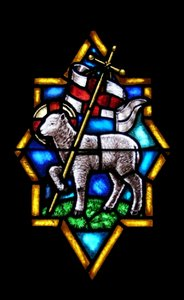 Worthy Is The Lamb: Stained Glass from Wolfville Baptist Church (founded 1765) Wolfville, Nova Scotia, Canada