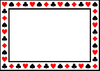 Card Suits Frame: A border/frame with card suit symbols on a white background.