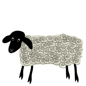 Cute Sheep: Cute cartoon sheep.
