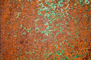 Rust Texture: A grungy rust background texture.
