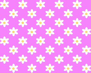 Daisy Tile 4: A seamless background tile with a daisy pattern.