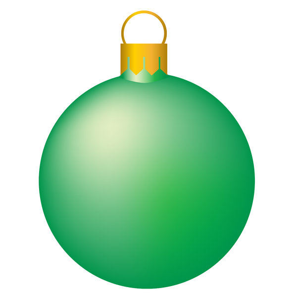 Christmas Tree Bauble 5: Isolated bauble on a white background.