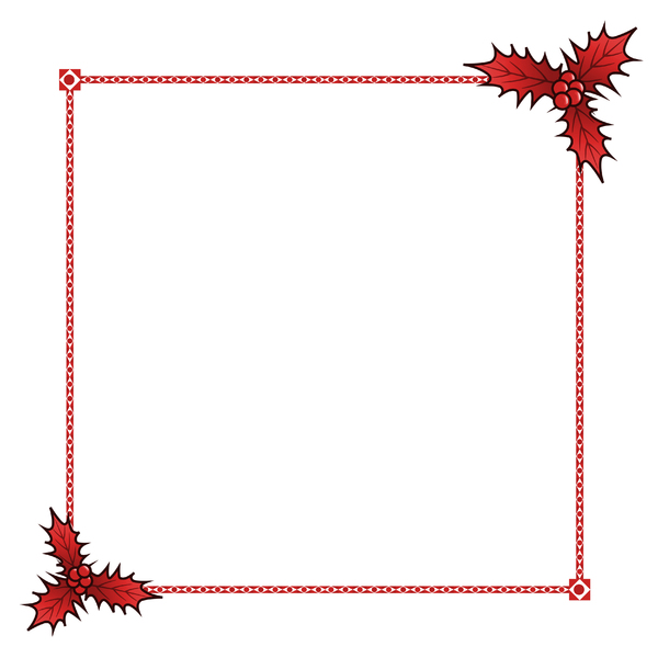 Holly Border: A festive border with a holly theme.