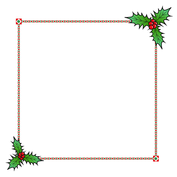 Holly Border 2: A festive border with a holly theme.