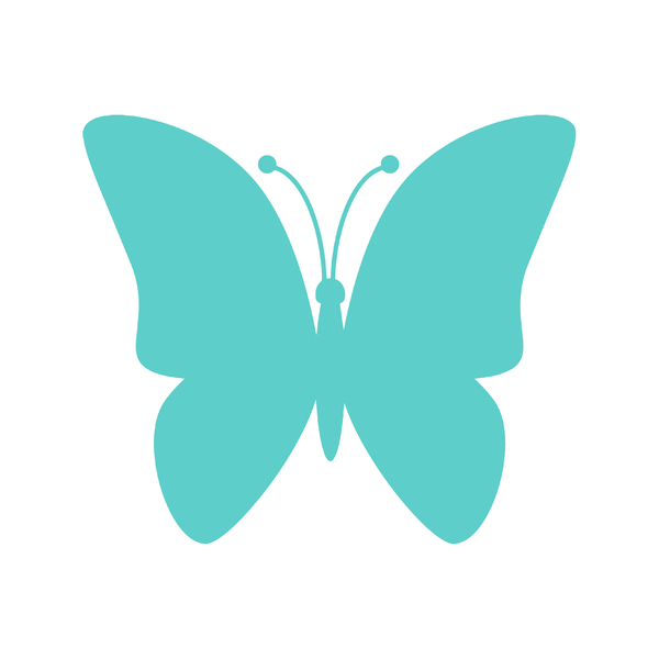Aqua Butterfly Icon: Aqua butterfly icon on white background