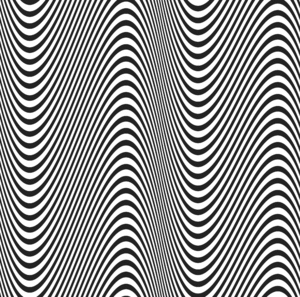 Graphic Waves: In the style of Bridget Riley
