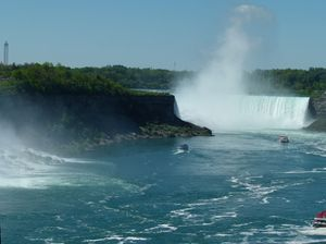 Niagara Falls: Picture series taken at Niagara Falls after a walk over the Rainbow Bridge between USA and Canada