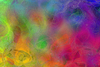 Rainbow Gossamer: An abstract background, texture or fill in rainbow colours, and with a gossamer effect.