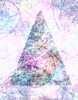 Dreamy Christmas Tree 1: An arty, abstract collage Christmas tree in pretty pastel shades.