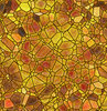 Stained Glass: A colourful stained glass graphic. Would make an excellent fill, background, texture, etc. Warm yellows, golds and oranges.