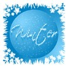 Winter Graphic 1: A graphic button with snowflakes and the word,