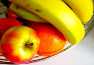 Fruit bowl 2: A bowl of delicious fruit.