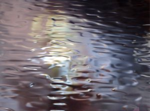 Abstract Metallic Reflections : Metallic reflections of light and colour.
