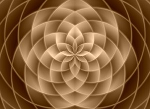 Kaleidoscopic Pattern: Beautiful pattern in sepia tones useful for design, texture, fill or background.