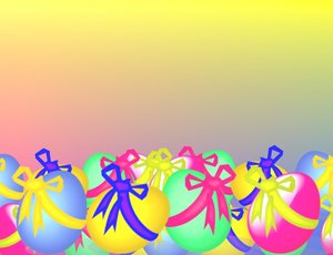 Easter Background 2: Pretty Easter background for children in bright primary colours.