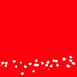 Heart Border 1: A plain red background with a border of tiny white hearts. This would make a great card, stationery, background or texture.