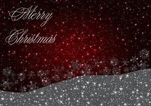 Christmas Greetings 1: A starry, shiny Christmas greeting, background, cover, card or illustration in red, black and white, with the words