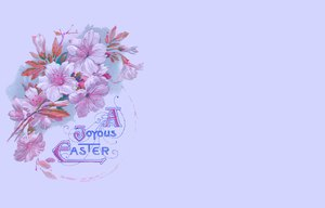 Easter Card 3: A victorian Easter wish, made from a public domain image. Pretty and old fashined, it makes a nice Easter card or greeting.