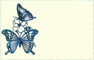 Metallic Butterfly Border: