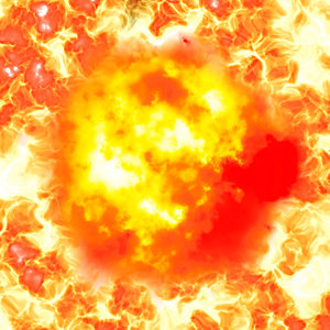 Explosion 3: A powerful explosion and fire.