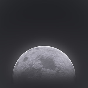 Moon: Rendered image of a moon.
