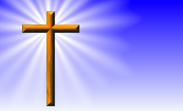 Cross - Christian Symbol: A graphic of a wooden cross, one of the symbols used by Christians. Plenty of copyspace for text.
