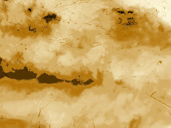 Grunge Surface: A grunge background in ochre, beige and dark shades. Weathered and old in appearance. You may prefer this:  http://www.rgbstock.com/photo/nSydVZm/Plain+Parchment+2  or this:http://www.rgbstock.com/photo/nOMzg2c/Grungy+Lined+Paper+2