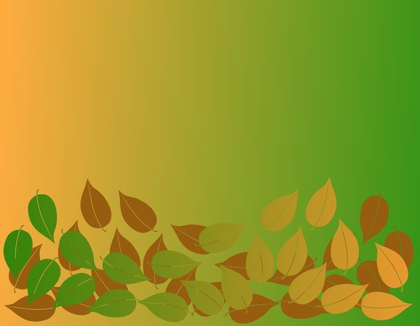 Leaves: Patterns, shapes and colours useful for design or backgrounds. Symbolic of autumn or fall.