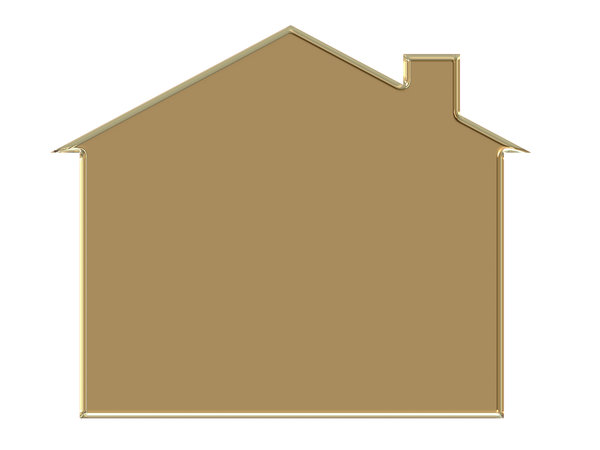 House 1: House symbol with a metal effect. Could represent not just housing, but families, investment, etc.