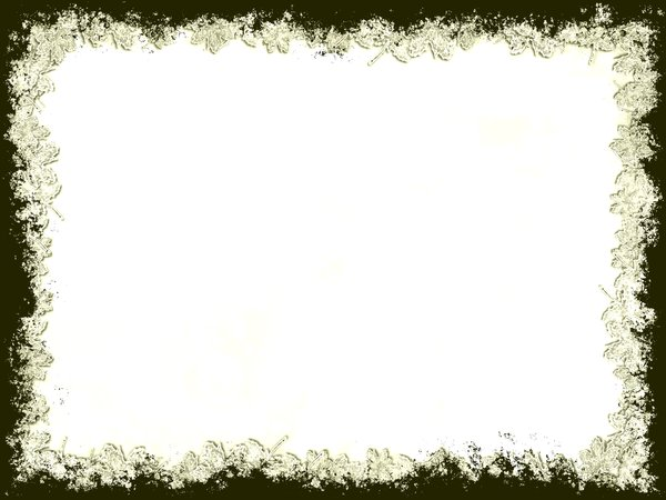 Grungy Leaf Border 3: Grunge background framed with leafy edges.