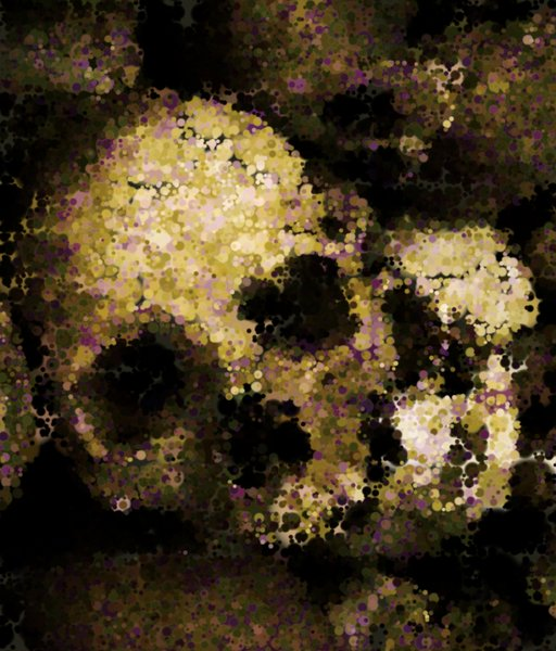Skull 2: An abstract skull made from a public domain image. Quite scary.