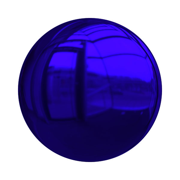 Christmas Baubles 1: Decorative Christmas bauble or ball in dark blue with a shiny and reflective surface.