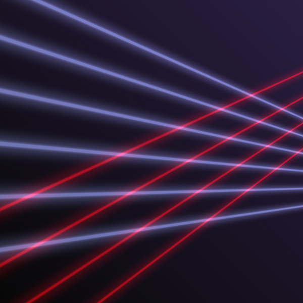 Laser Beams 3: Graphic image of coloured laser beams. A great futuristic background, texture, etc.