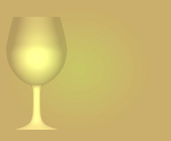 Wineglass Border 2: A yellow backdrop with a wineglass outline on one side.