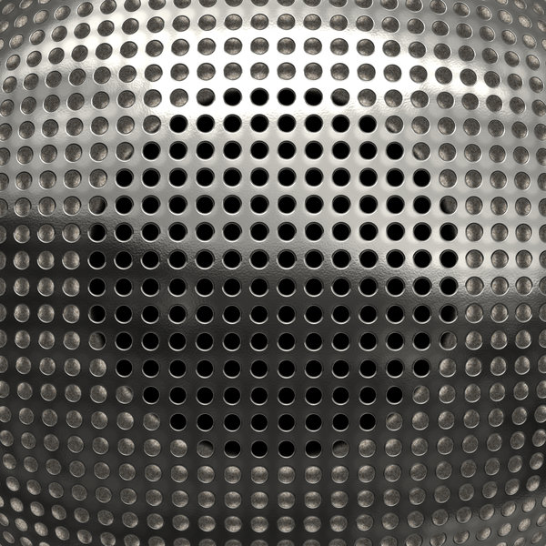 Metallic Grille 2: A silver metal grille closeup over a speaker. Speaker cover, texture, fill, or background.